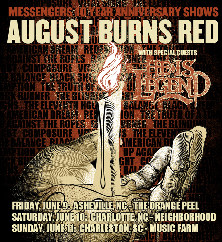 August Burns Red @ The Orange Peel - Asheville, NC