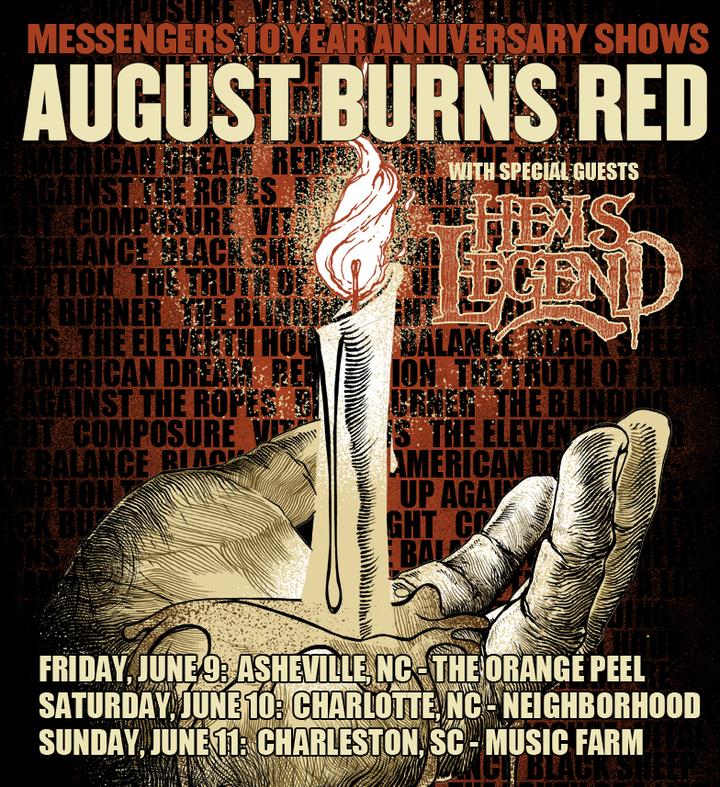 August Burns Red @ Neighborhood Theatre - Charlotte, NC