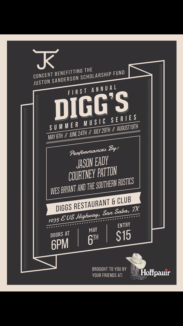 Jason Eady @ Digg's Restaurant & Club - San Saba, TX