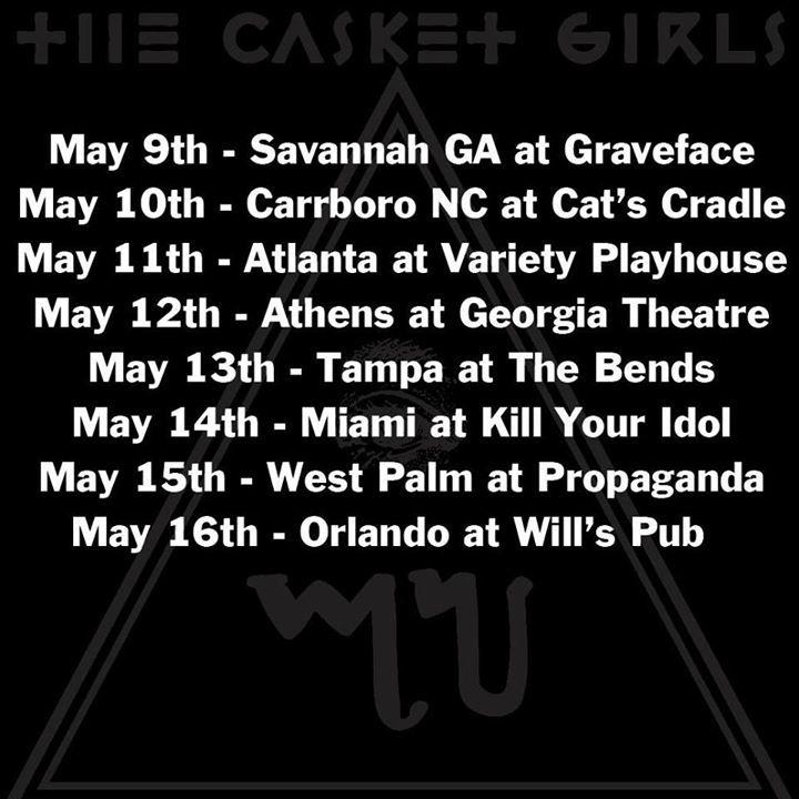 The Casket Girls Tour Dates