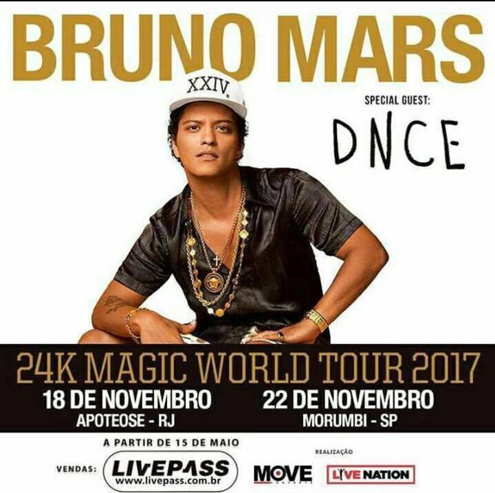 Bruno Mars no Brasil Tour Dates