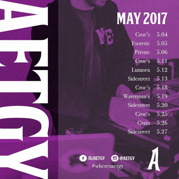 DJ AETGY Tour Dates