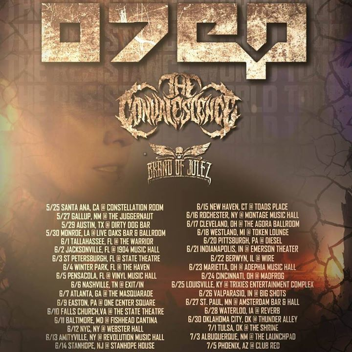 The Convalescence Tour Dates