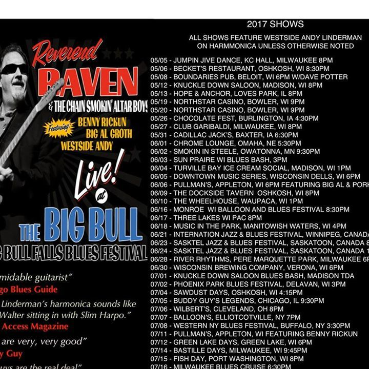 Reverend Raven @ Heritage Hill 6pm - Green Bay, WI