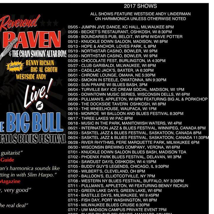 Reverend Raven & The Chain Smokin Altar Boys Tour Dates