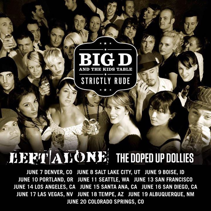 Big D and the Kids Table Tour Dates