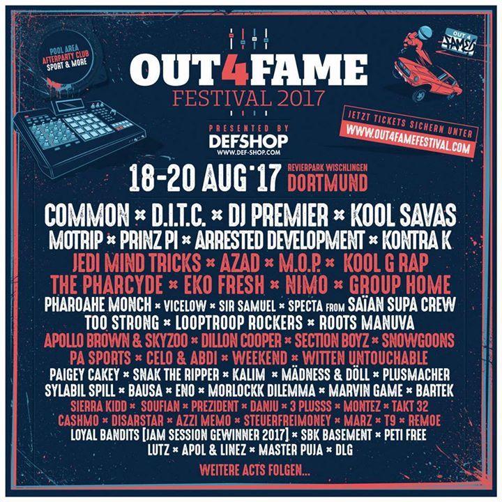 Out4Fame Tour Dates