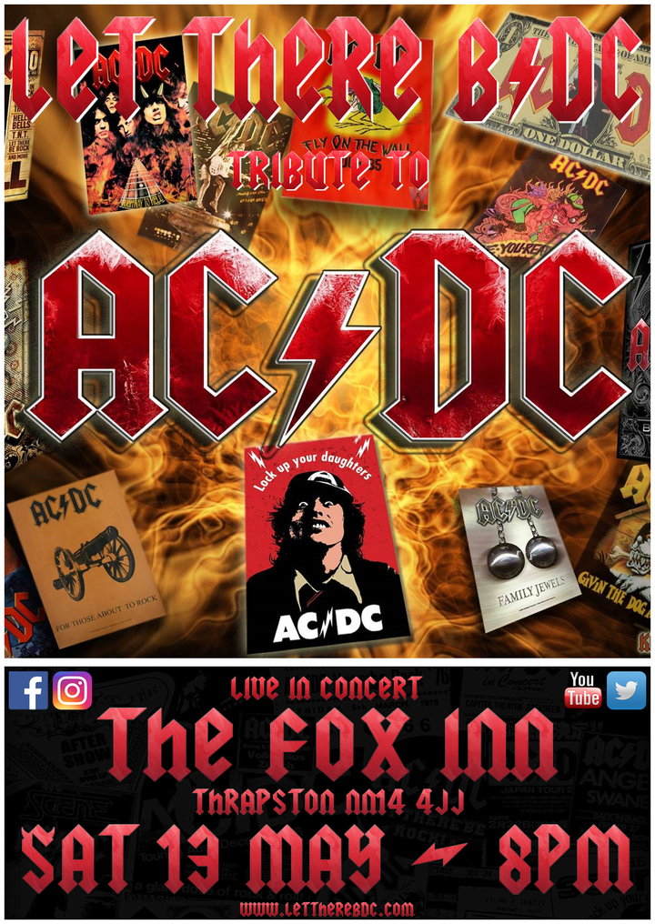 Let There B/DC - Ac/dc Tribute Band @ The Fox Inn - Kettering, United Kingdom