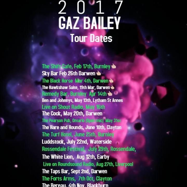 Gaz Bailey Music Tour Dates