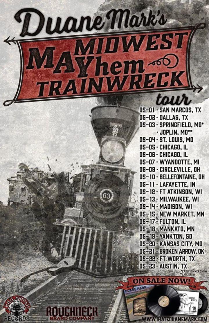 Duane Mark Tour Dates