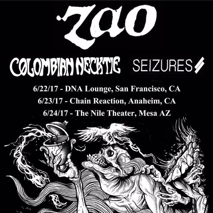 COLOMBIAN NECKTIE Tour Dates