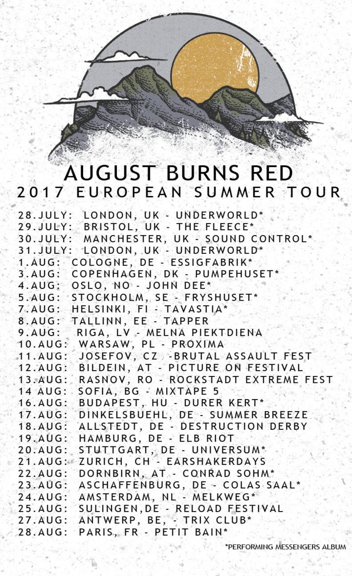August Burns Red @ Earshakerdays - Zurich, Switzerland