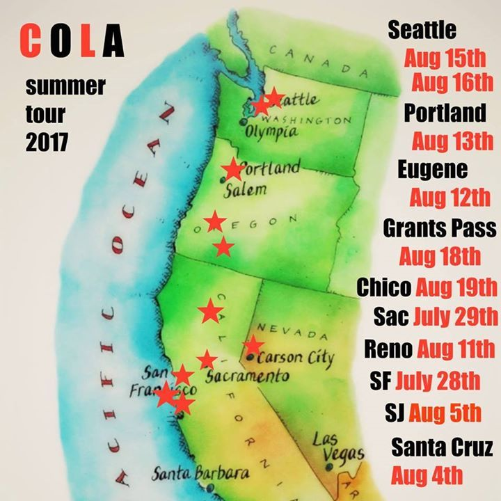 Cola Tour Dates