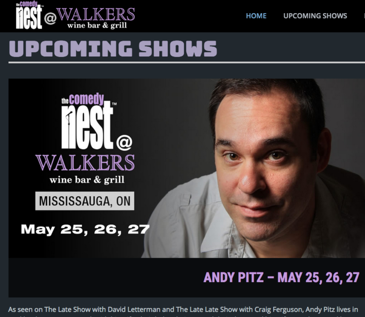 Andy Pitz, Comedian @ Comedy Nest @ Walkers - Mississauga, Canada