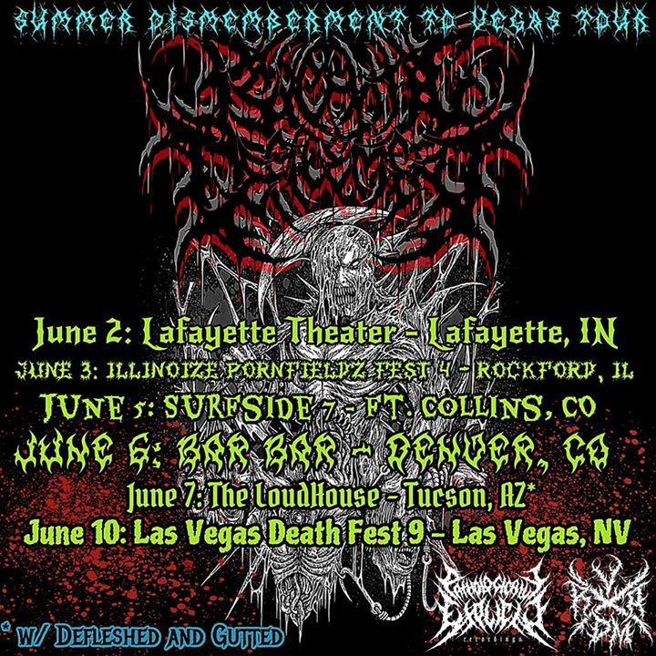 Psychotic Defilement Tour Dates