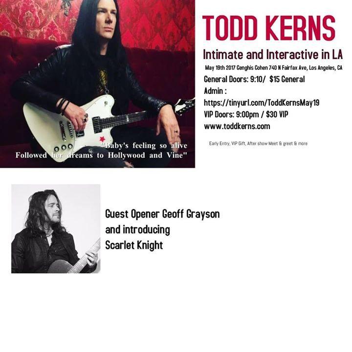 Todd Kerns Tour Dates