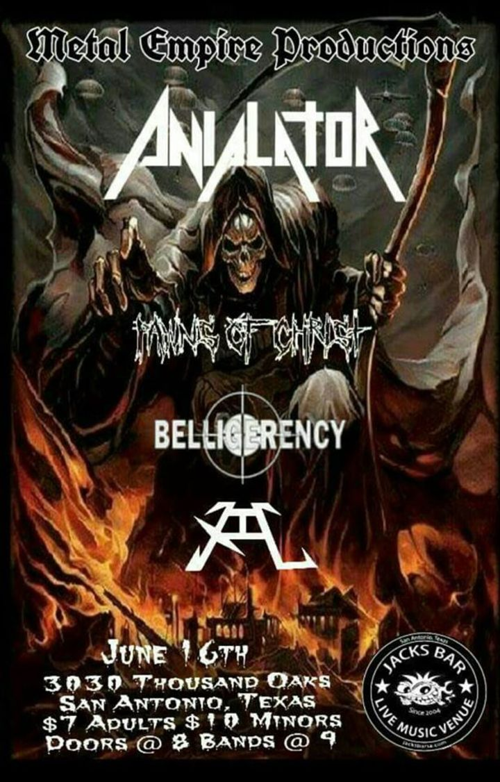 Belligerency Tour Dates