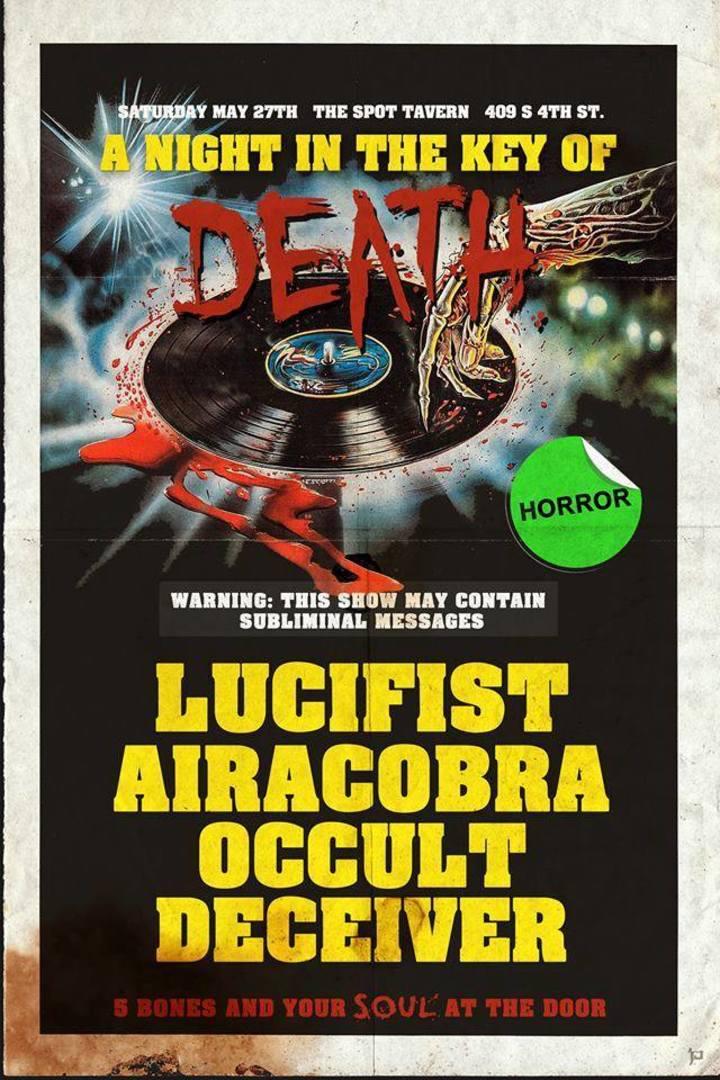 Occult Deceiver Tour Dates