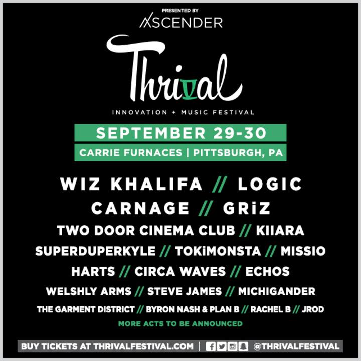 Wiz Khalifa @ Thrival Music Festival - Pittsburgh, PA