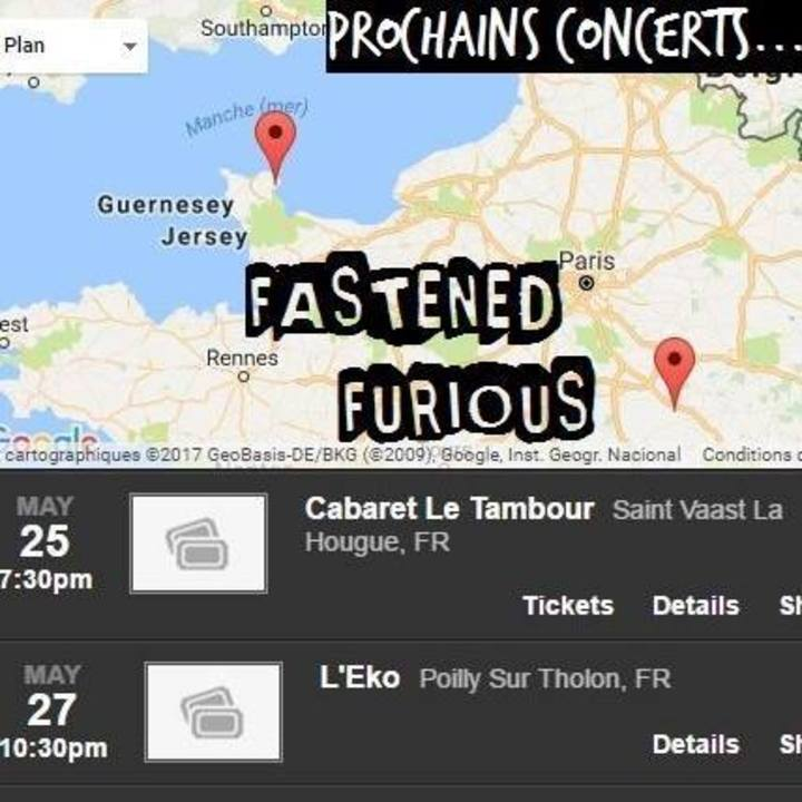 Fastened Furious Tour Dates