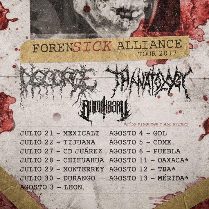 Thanatology Tour Dates