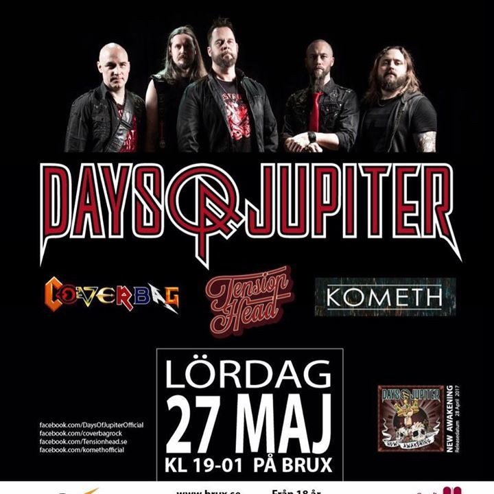 Days of Jupiter Tour Dates