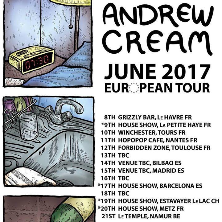 Andrew Cream Tour Dates