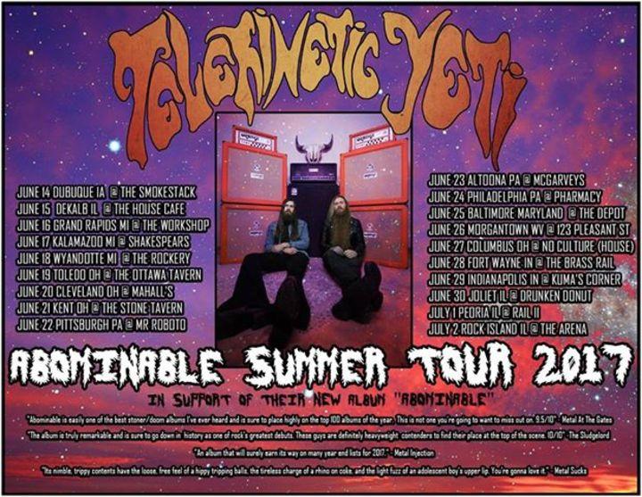 Telekinetic Yeti Tour Dates