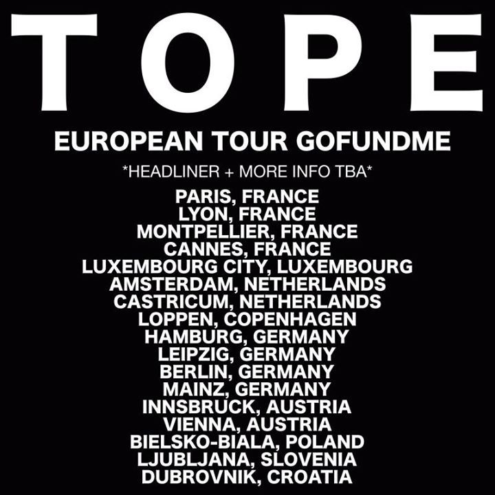 Tope Tour Dates