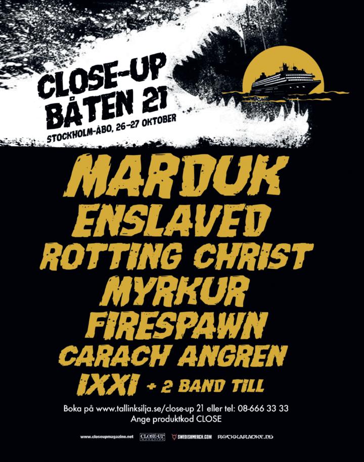 Enslaved @ Close-up Båten 21 - Stockholm, Sweden