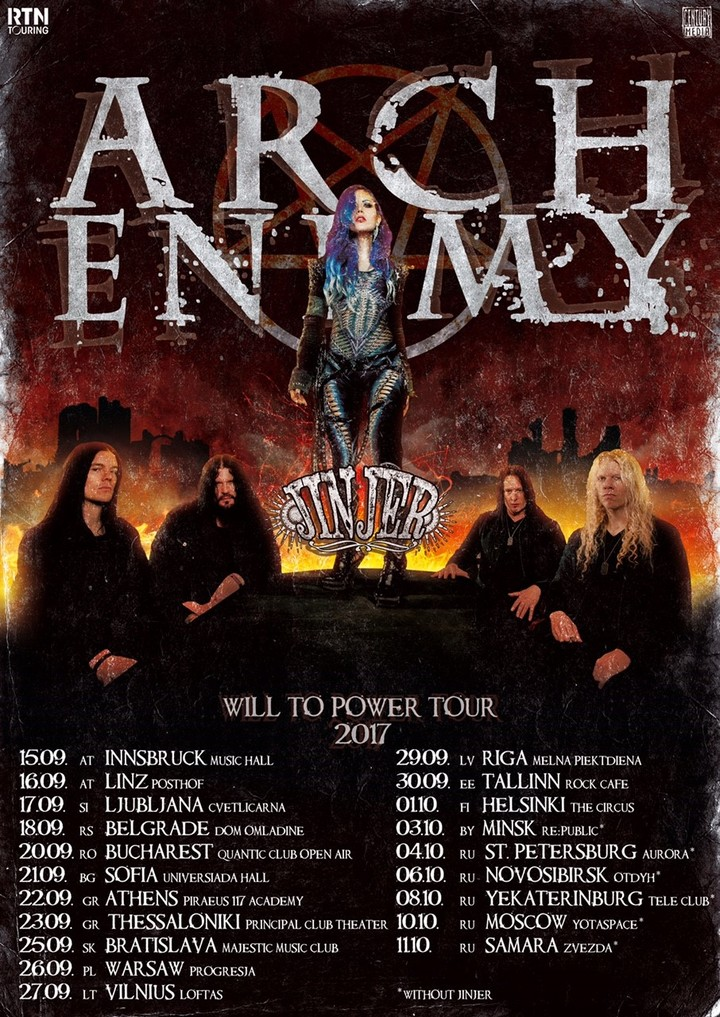 Arch Enemy @ Quantic Club Open Air Stage - Bucharest, Romania