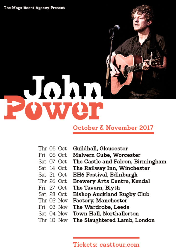 Cast @ John Power (acoustic) @ Town Hall - Northallerton, United Kingdom