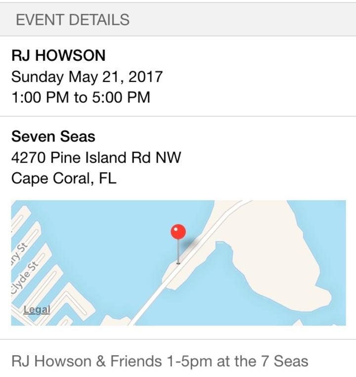 RJ HOWSON @ Seven Seas  - Matlacha, FL