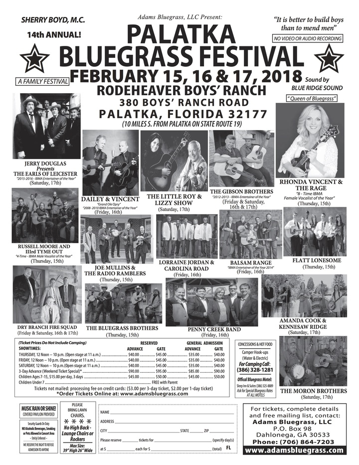 Joe Mullins and The Radio Ramblers @ Palatka Bluegrass Festival - Palatka, FL