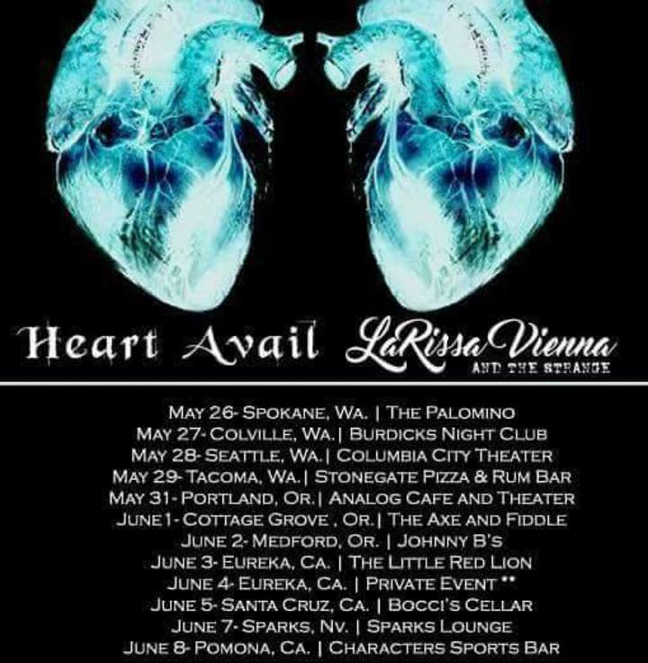 Heart Avail formerly Aleisha and Greg Tour Dates