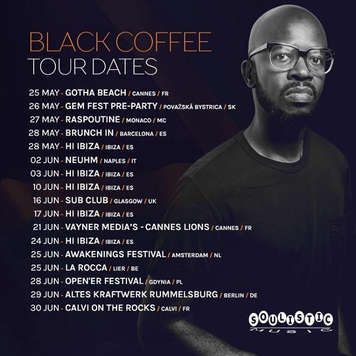 Black Coffee Tour Dates