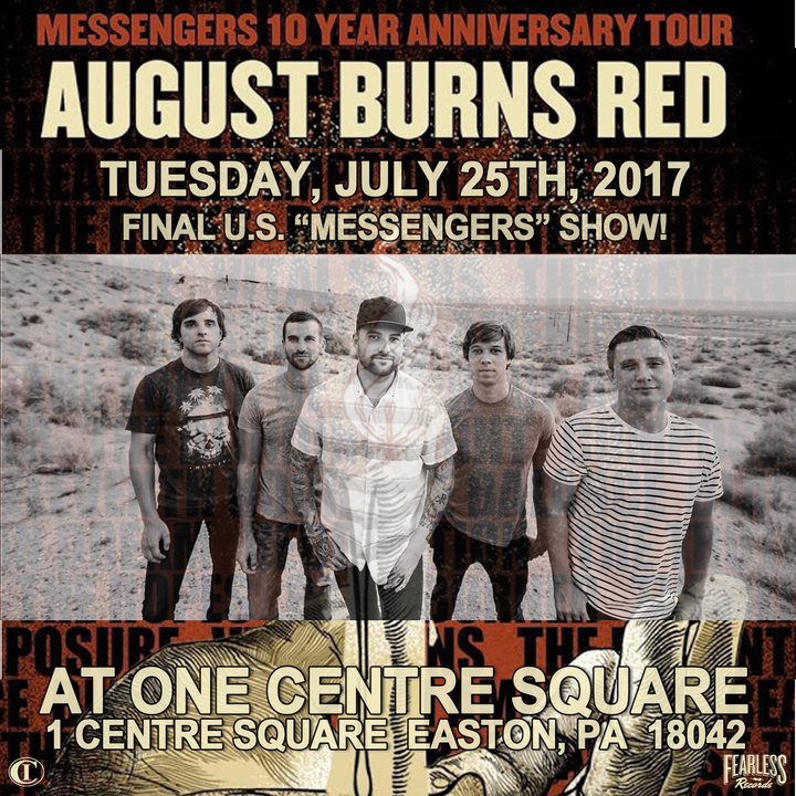 August Burns Red @ One Centre Square - Easton, PA