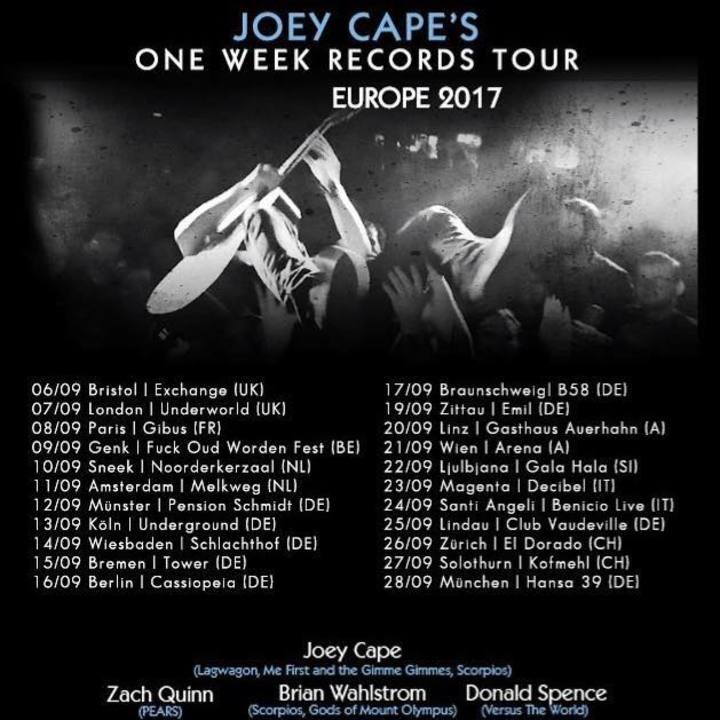 Donald Spence Tour Dates