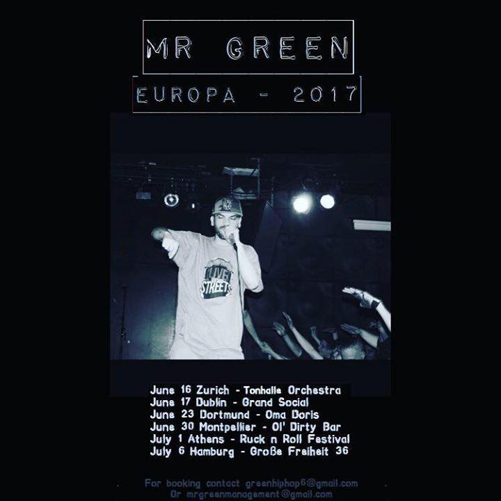 MR. GREEN Tour Dates