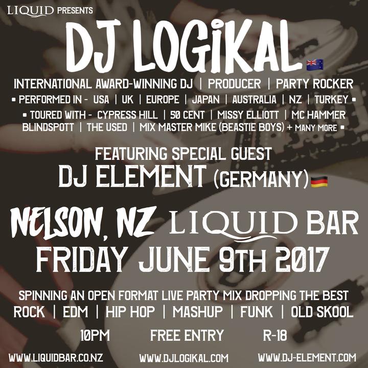 Bandsintown | DJ Logikal Tickets - Liquid NZ Bar, Jun 09, 2017