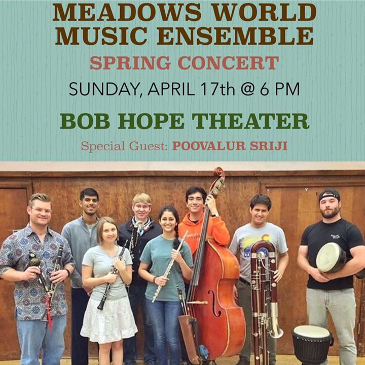 Meadows World Music Ensemble at SMU Tour Dates