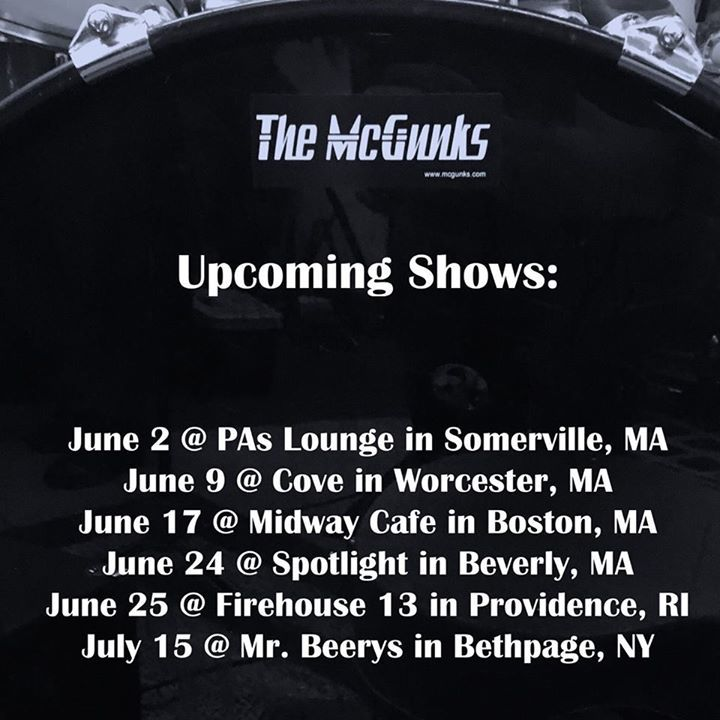 The McGunks Tour Dates