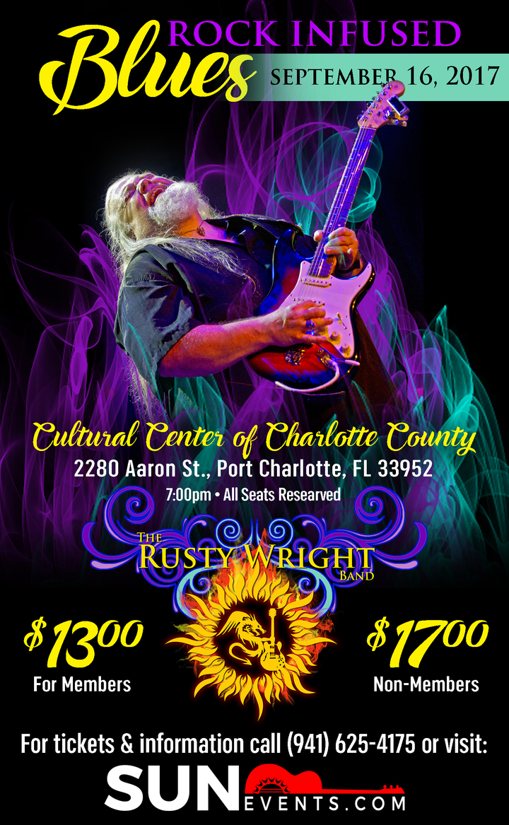 Rusty Wright Band @ Cultural Center of Charlotte County - Port Charlotte, FL