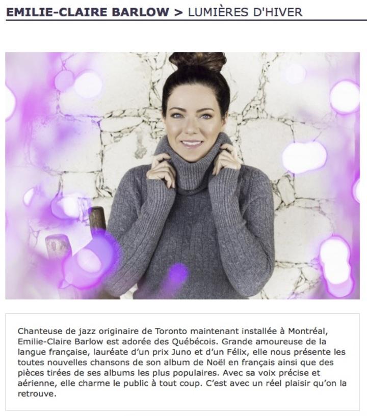 Emilie-Claire Barlow @ THEATRE DE LA VILLE - Longueuil, Canada