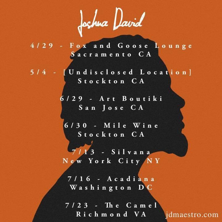 Joshua David Tour Dates