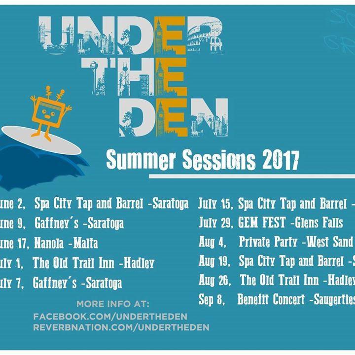 Under the Den Tour Dates