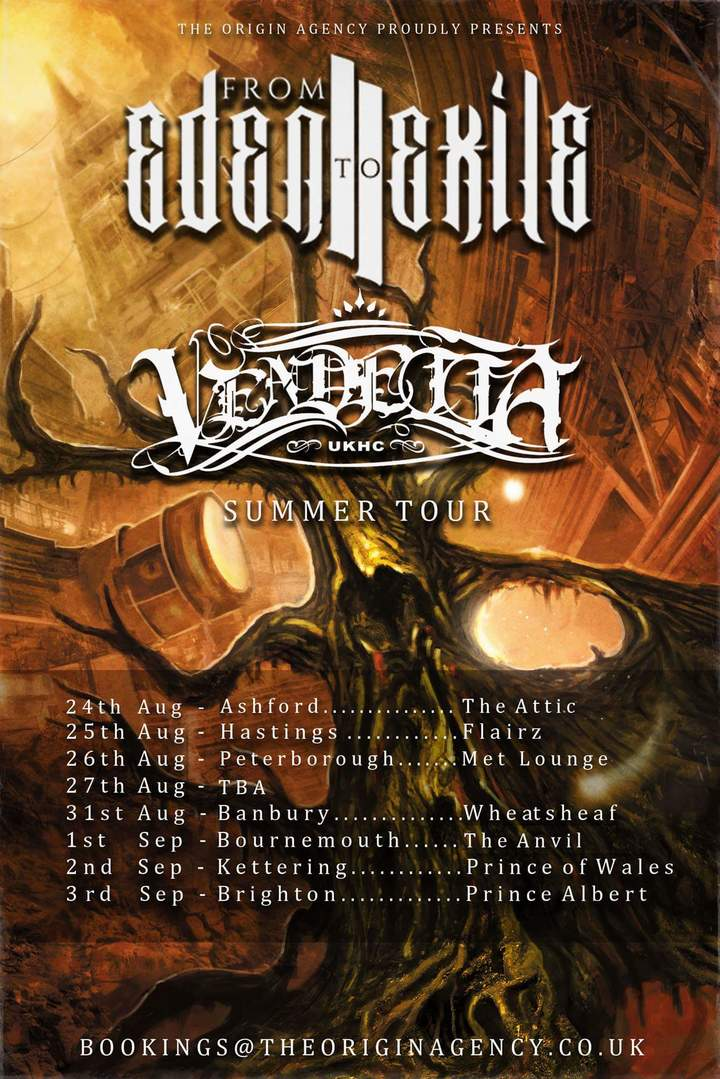 FROM EDEN TO EXILE @ The Anvil - Bournemouth, United Kingdom