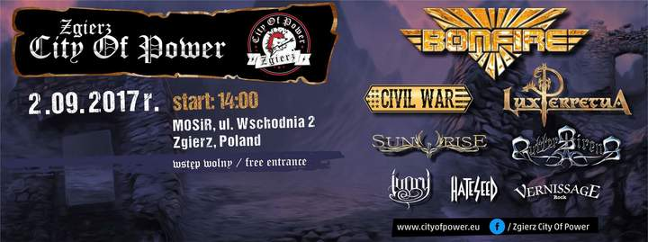 Civil War (the band) @ ZGIERZ CITY OF POWER - Zgierz, Poland