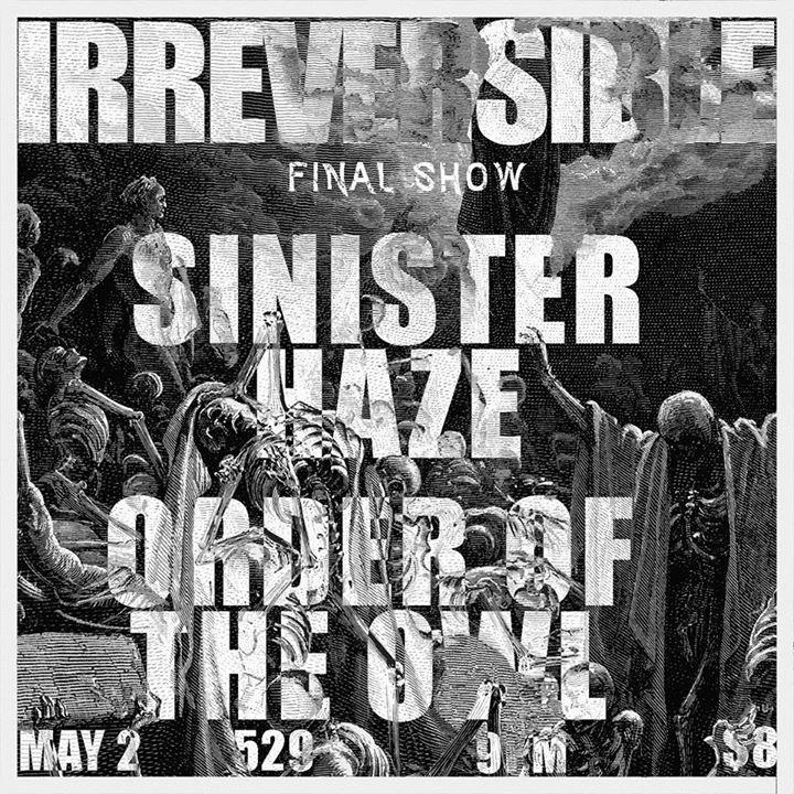 Irreversible Tour Dates