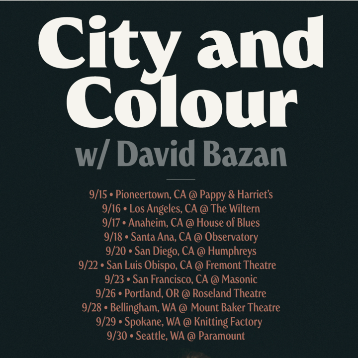 City and Colour @ The Wiltern - Los Angeles, CA